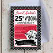 1960s Retro Rockabilly 25th / Silver Wedding Anniversary Invitation additional 1