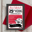 1960s Retro Rockabilly 25th / Silver Wedding Anniversary Invitation additional 2