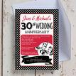 1960s Retro Rockabilly 30th / Pearl Wedding Anniversary Invitation additional 1