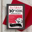 1960s Retro Rockabilly 30th / Pearl Wedding Anniversary Invitation additional 2