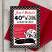 1960s Retro Rockabilly 40th / Ruby Wedding Anniversary Invitation additional 2