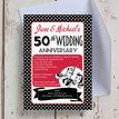 1960s Retro Rockabilly 60th / Diamond Wedding Anniversary Invitation additional 1