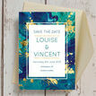 Teal & Gold Ink Wedding Save the Date additional 3