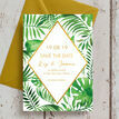Tropical Leaves Wedding Save the Date additional 2
