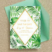 Tropical Leaves Wedding Save the Date additional 4