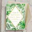 Tropical Leaves Wedding Save the Date additional 3
