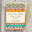 Aztec Ikat Save the Date additional 2