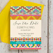 Aztec Ikat Save the Date additional 3