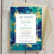 Teal & Gold Ink 40th / Ruby Wedding Anniversary Invitation additional 3