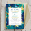 Teal & Gold Ink 50th / Golden Wedding Anniversary Invitation additional 1
