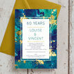 Teal & Gold Ink 60th / Diamond Wedding Anniversary Invitation additional 2