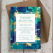 Teal & Gold Ink Evening Reception Invitation additional 3