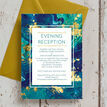 Teal & Gold Ink Evening Reception Invitation additional 2