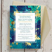 Teal & Gold Ink Evening Reception Invitation additional 4