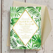 Tropical Leaves Wedding Invitation additional 3