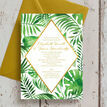 Tropical Leaves Wedding Invitation additional 5