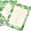 Tropical Leaves Wedding Invitation additional 2