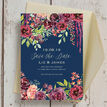 Navy & Burgundy Floral Save the Date additional 3