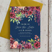 Navy & Burgundy Floral Save the Date additional 4