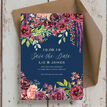 Navy & Burgundy Floral Save the Date additional 2