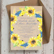 Rustic Sunflower Wedding Invitation additional 5