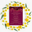 Burgundy & Rose Gold Indian / Asian Wedding Invitation additional 4