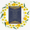 Navy Blue & Gold Indian / Asian Wedding Invitation additional 5
