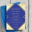 Royal Blue & Gold Indian / Asian Wedding Invitation additional 3
