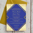 Royal Blue & Gold Indian / Asian Wedding Invitation additional 2
