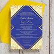 Royal Blue & Gold Indian / Asian Wedding Invitation additional 4