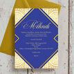 Royal Blue & Gold Mehndi / Baraat Card additional 2
