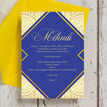 Royal Blue & Gold Mehndi / Baraat Card additional 3