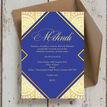 Royal Blue & Gold Mehndi / Baraat Card additional 5