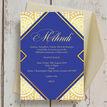 Royal Blue & Gold Mehndi / Baraat Card additional 4
