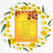Yellow & Burgundy Indian / Asian Wedding Invitation additional 5