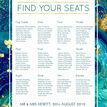 Teal & Gold Ink Wedding Seating Plan additional 4