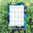 Teal & Gold Ink Wedding Seating Plan additional 1