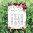 Burgundy Watercolour Floral Wedding Seating Plan additional 1