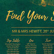Emerald & Gold Wedding Seating Plan additional 3