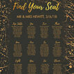 Black & Gold Abstract Wedding Seating Plan additional 4