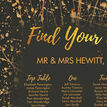 Black & Gold Abstract Wedding Seating Plan additional 3