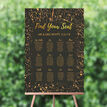 Black & Gold Abstract Wedding Seating Plan additional 1