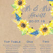 Rustic Sunflower Wedding Seating Plan additional 4