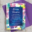 Bright Watercolour Evening Reception Invitation additional 2