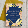Navy, Blush & Gold Wedding Save the Date additional 2