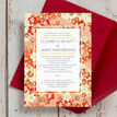 Origami Floral Wedding Invitation additional 3