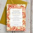 Origami Floral Evening Reception Invitation additional 4