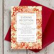 Origami Floral Evening Reception Invitation additional 3