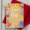 Pressed Flowers Wedding Save the Date additional 2