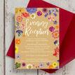 Pressed Flowers Evening Reception Invitation additional 3